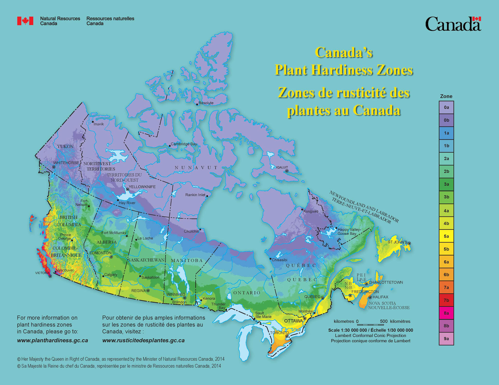 Garden Zone Map Canada Hardiness Zones   Gardening   College of Agriculture and